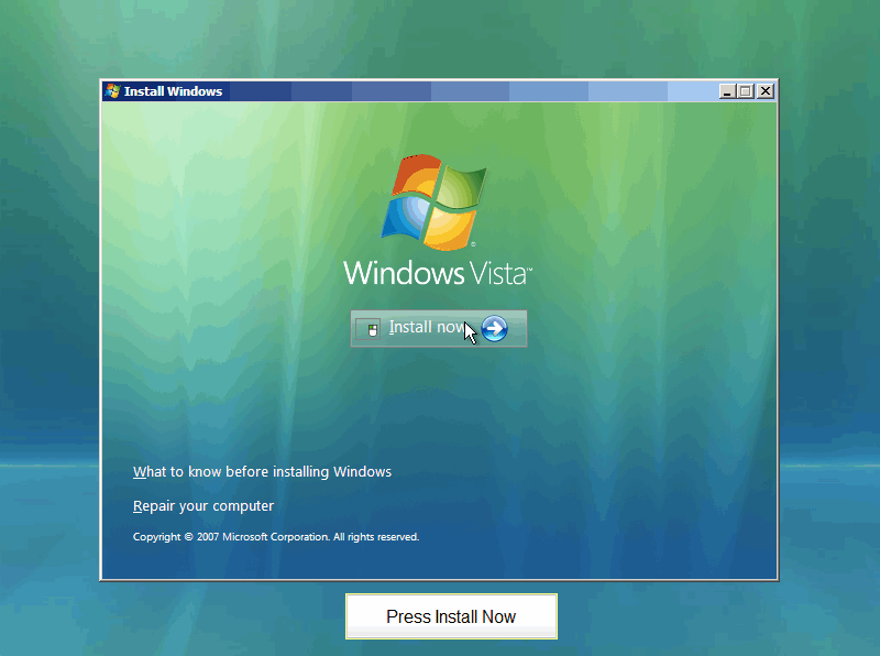 Format Windows Vista Home Premium Laptop