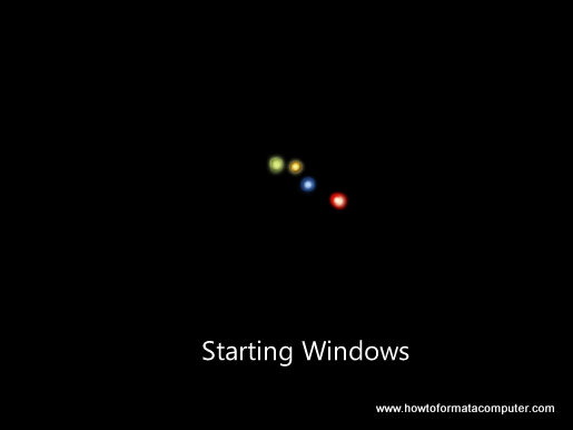 Install Windows 7 - Starting Windows Setup
