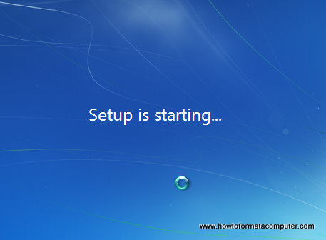 Install Windows 7 - Setup is starting