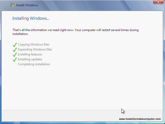 Install Windows 7 - Setup Complete