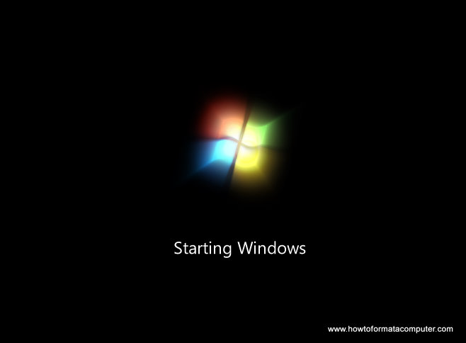 Install Windows 7 - Windows starts to load