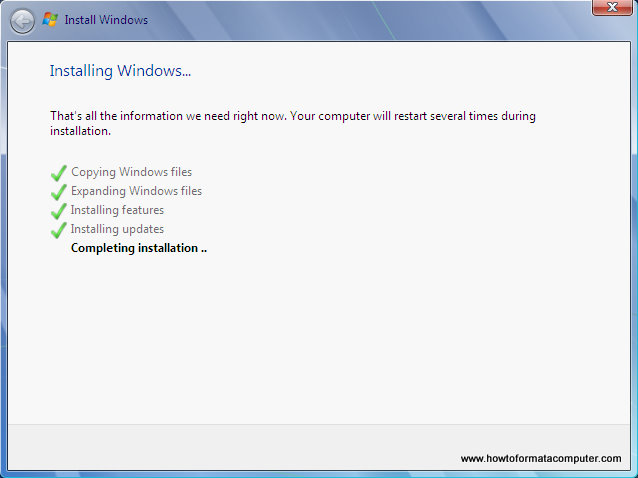 Install Windows 7 - Completing Installation