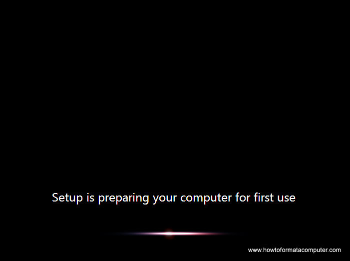 Install Windows 7 - Setup is preparing your computer for first use