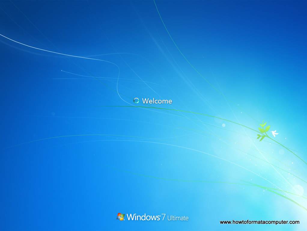 Install Windows 7 - Welcome screen